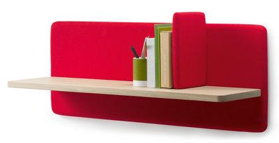 Mobilier - Etagères & bibliothèques - Etagère Landa / L 90 cm - Alki - Rouge / Bois - Chêne massif, Laine