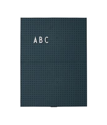 Tableau memo A4 / L 21 x H 30 cm - Design Letters vert foncé en matière plastique