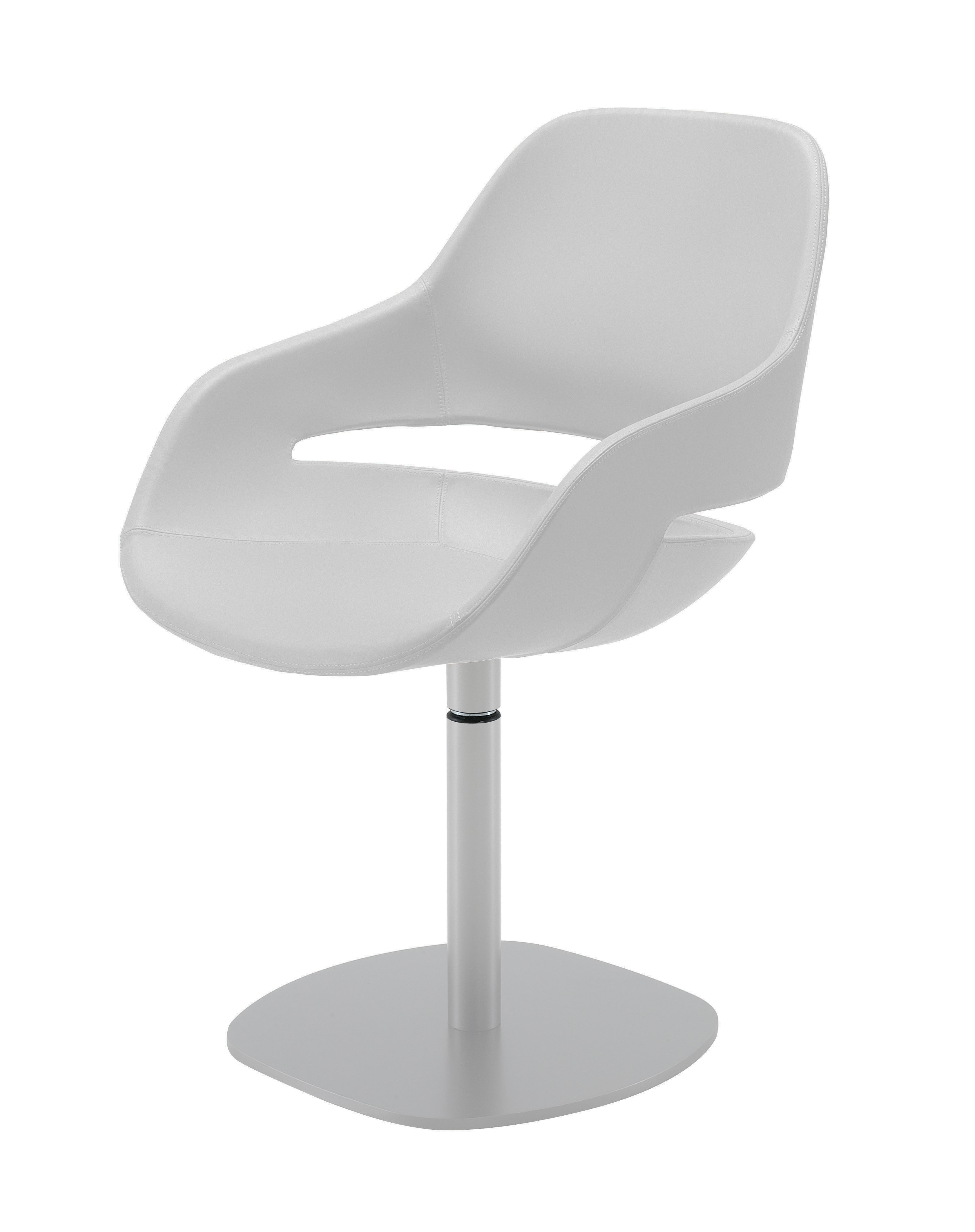 fauteuil pivotant eva coque polyur thane pied m tal pied blanc coque blanche zanotta. Black Bedroom Furniture Sets. Home Design Ideas
