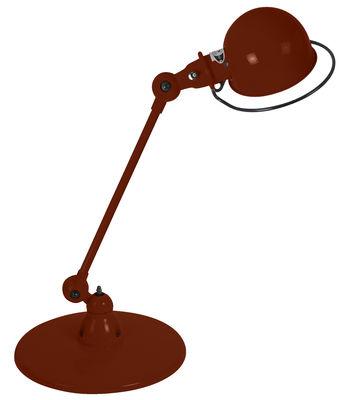 Foto Lampada da tavolo Loft - 1 braccio articolato - L 60 cm di Jieldé - Cioccolato brillante - Metallo