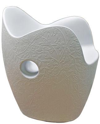 Poltrona O-Nest di Moroso - Bianco - Materiale plastico