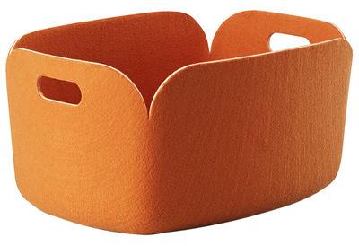 Foto Cestino Restore - 100% reciclato di Muuto - Arancione - Tessuto