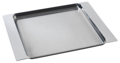 Tableware - Trays - Programme 8 Tray by Alessi - Steel - Stainless steel