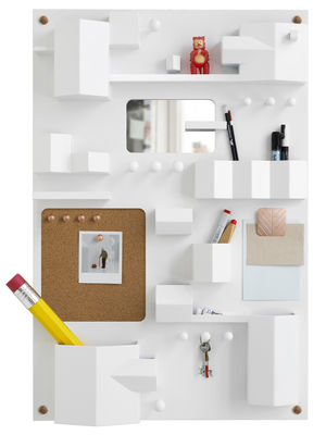 rangement mural suburbia l 55 x h 82 cm blanc seletti. Black Bedroom Furniture Sets. Home Design Ideas