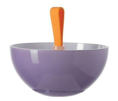 Coupe Nico - Ø16,5 cm - Leonardo orange,violet en verre