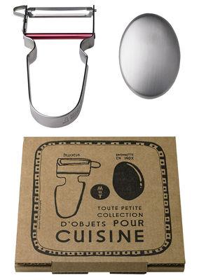 Coffret Toute petite collection /Eplucheur & savon - Malle W. Trousseau rouge,métal en métal