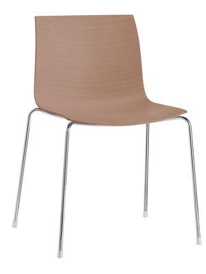 Chaise empilable Catifa 46 / Coque bois - Arper chêne naturel en bois