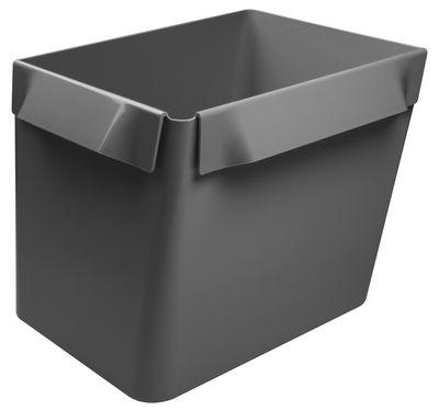 Foto Cestino Big Bin - Ripiano modulabile di Authentics - Grigio medio - Materiale plastico