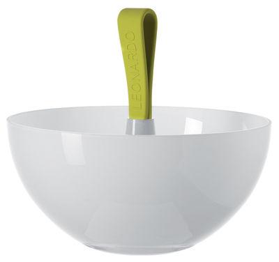 Coupe Nico - Ø 22 cm - Leonardo blanc,vert en verre