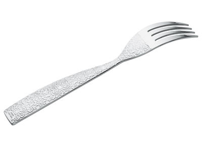 Tableware - Cutlery - Dressed Fork - Table fork by Alessi - Mirror polished steel - Stainless steel