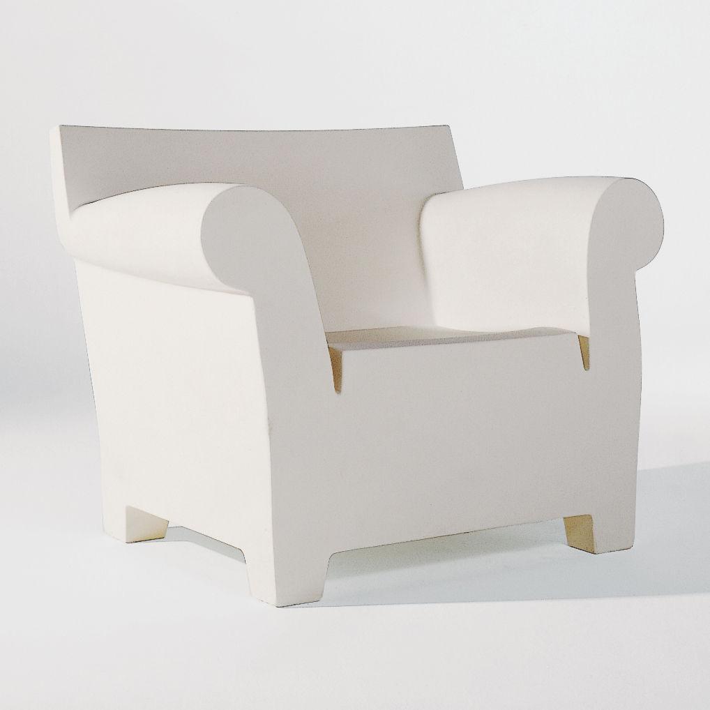 fauteuil bubble club blanc zinc kartell. Black Bedroom Furniture Sets. Home Design Ideas