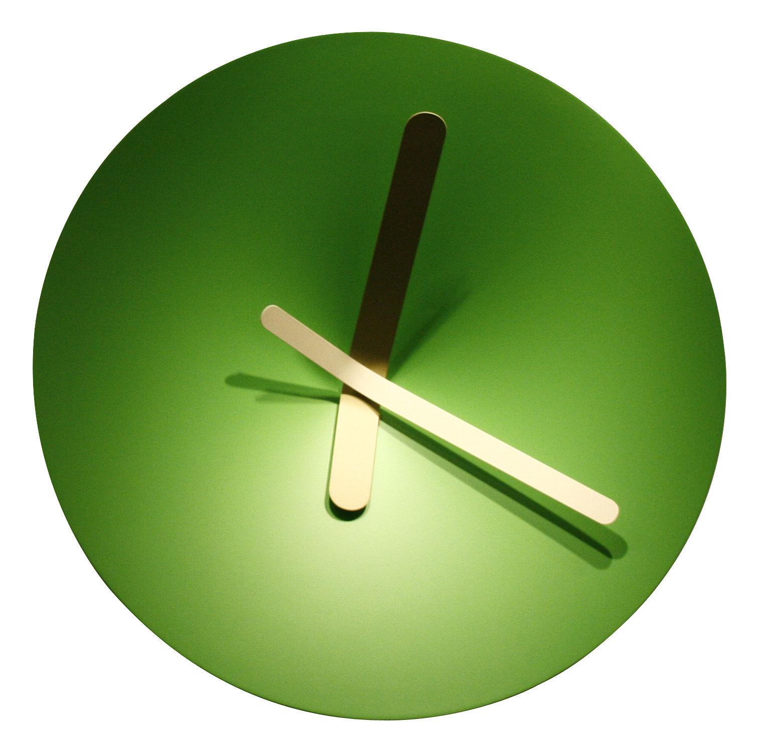 mozia medium wall clock 40 cm green yellow by. Black Bedroom Furniture Sets. Home Design Ideas