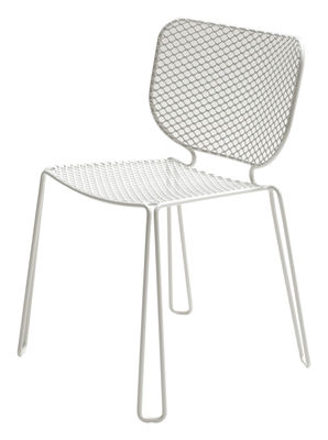 Furniture - Chairs and high armchairs - Ivy Stacking chair - Metal by Emu - White - Steel