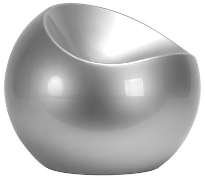 Ball Chair Pouf Silver by XL Boom | Made In Design UK