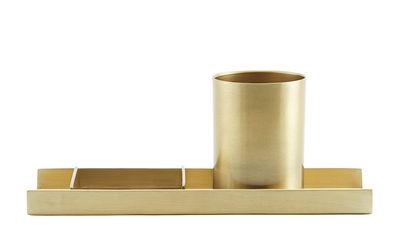 Accessories - Desk & Office Accessories - Desk organizer - / Pencil pot by House Doctor - Brass - Brass