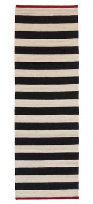 Foto Tappeto Melange - Stripes 2 / 80 x 240 cm - Nanimarquina - Bianco,Rosso,Nero - Tessuto