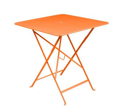Foto Tavolo pieghevole Bistro - 71 x 71 cm - Pieghevole - Con foro per parasole di Fermob - Carota - Metallo
