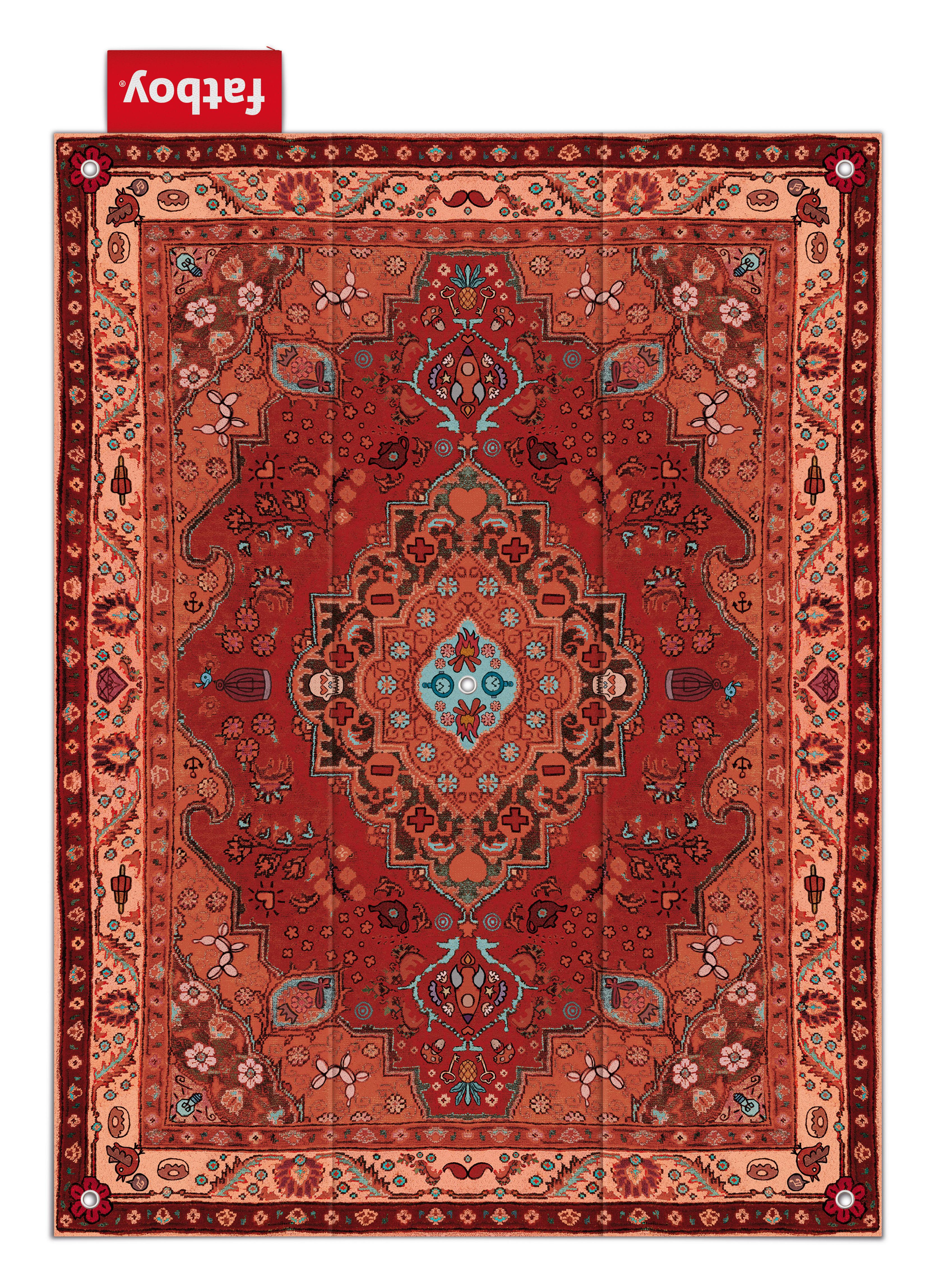 tapis d 39 ext rieur picnic lounge 280 x 210 cm tons rouges. Black Bedroom Furniture Sets. Home Design Ideas