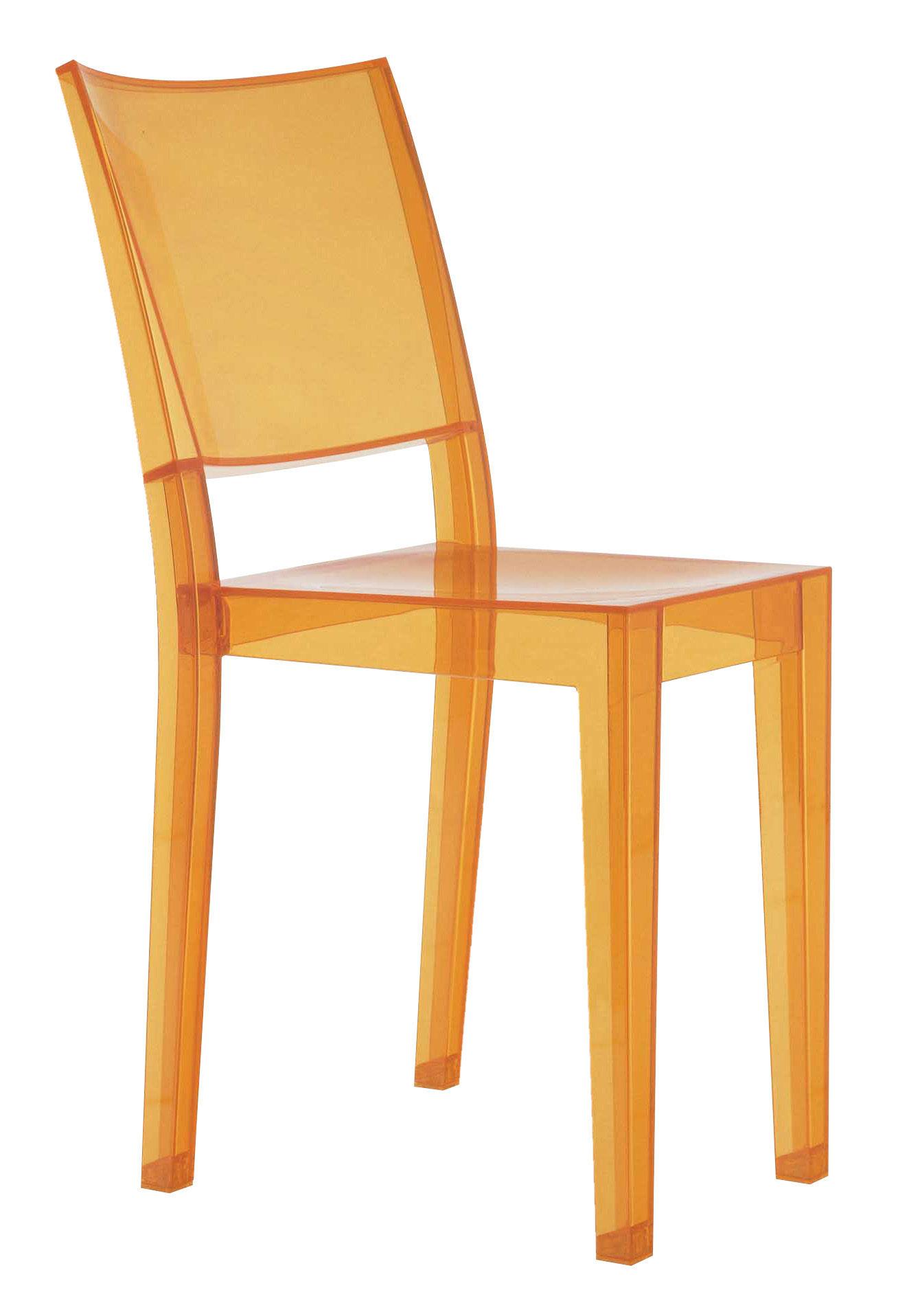 chaise empilable la marie polycarbonate orange clair kartell. Black Bedroom Furniture Sets. Home Design Ideas