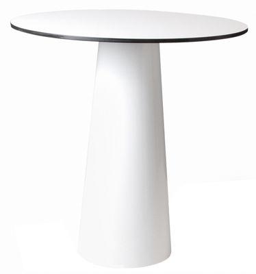 Pied de table Container / H 70 cm - Pour plateau Ø 70 cm - Moooi blanc en matière plastique