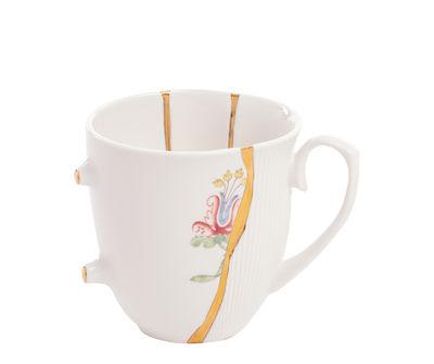 Mug Kintsugi / Porcelaine & or fin - Seletti blanc,multicolore,or en céramique