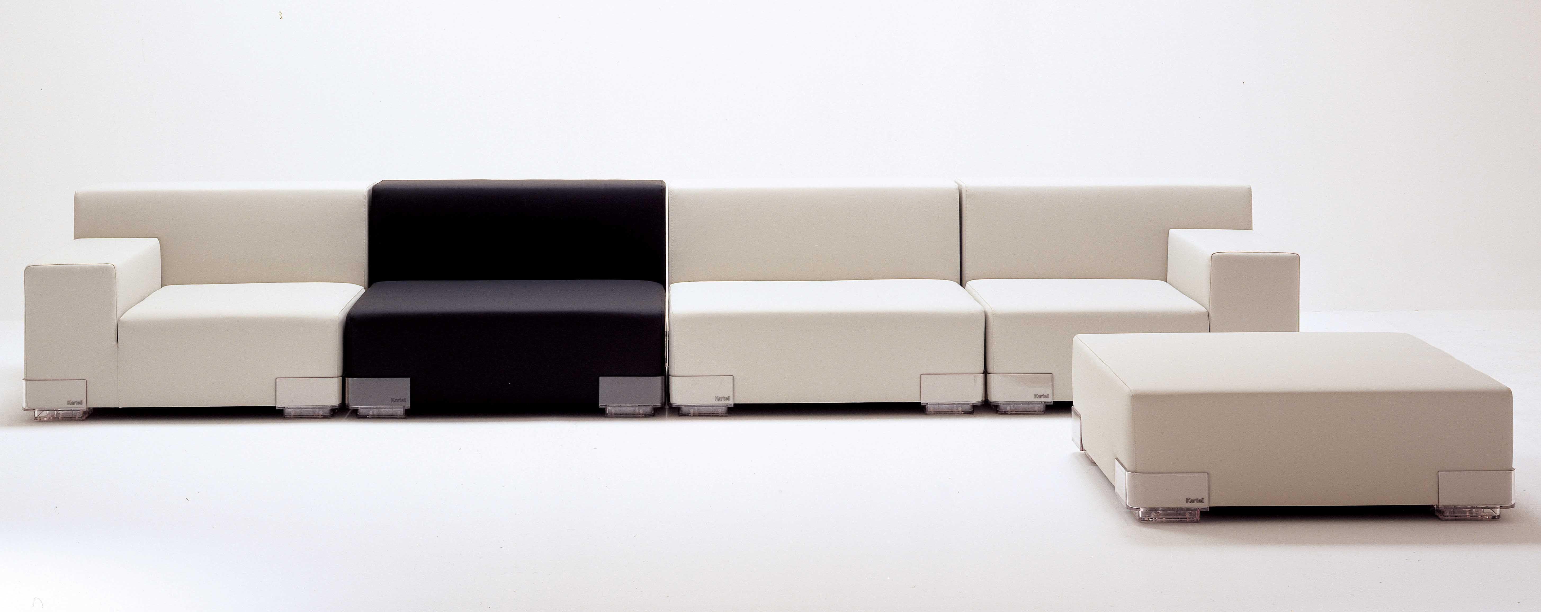 canap modulable plastics module accoudoir gauche l 90 cm anthracite kartell. Black Bedroom Furniture Sets. Home Design Ideas