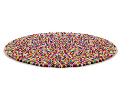 Furniture - Carpets - Pinocchio Rug - Ø 140 cm by Hay - Multicolour - Wool