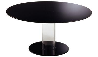 Table Hub / Ø 140 cm - Glas Italia noir en verre