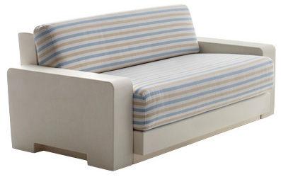 canap modulable one module 2 accoudoirs l 150 cm structure ivoire coussins blancs. Black Bedroom Furniture Sets. Home Design Ideas