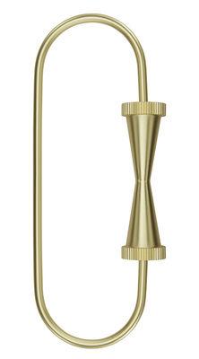 Accessoires - Bijoux, porte-clés... - Porte-clés Cog Loop / Laiton - Tom Dixon - Loop / Laiton - Laiton massif