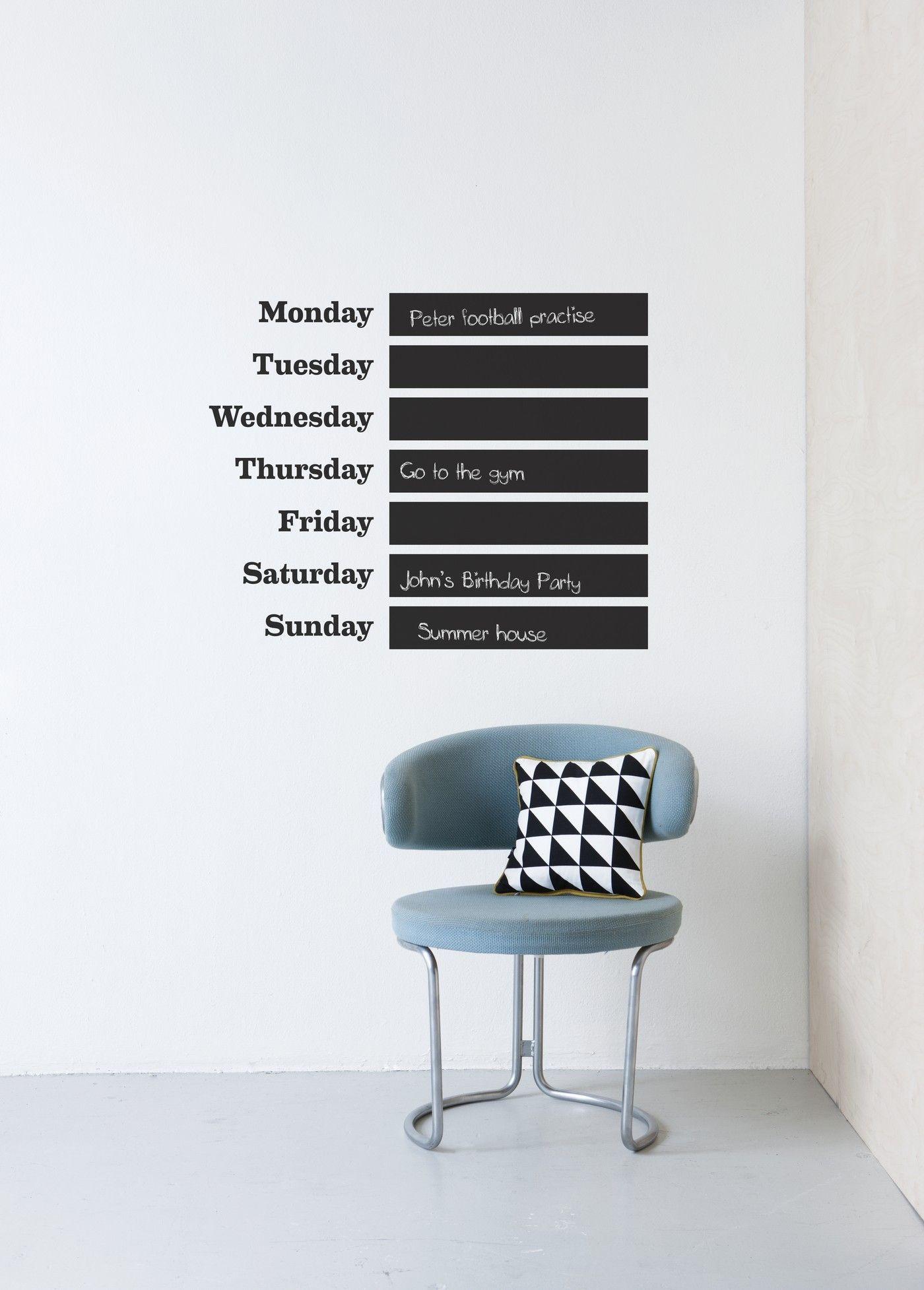 this week schiefertafel ferm living sticker. Black Bedroom Furniture Sets. Home Design Ideas