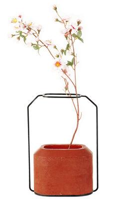 Foto Vaso Weight B - / L 20 x H 28 cm di Spécimen Editions - Rosso - Metallo