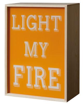 Déco - Pour les enfants - Lampe de table Lighthink box /  Applique - 4 faces interchangeables - 21 x 30 cm - Seletti - Multicolore / Bois clair - Bois naturel, Plexiglas
