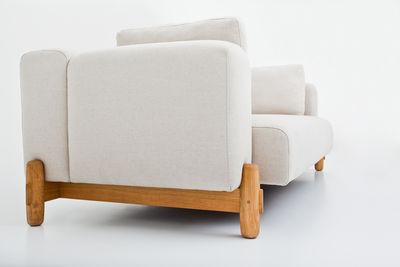 canap droit mark 3 places l 240 cm exclusivit web l 240 cm blanc comforty. Black Bedroom Furniture Sets. Home Design Ideas