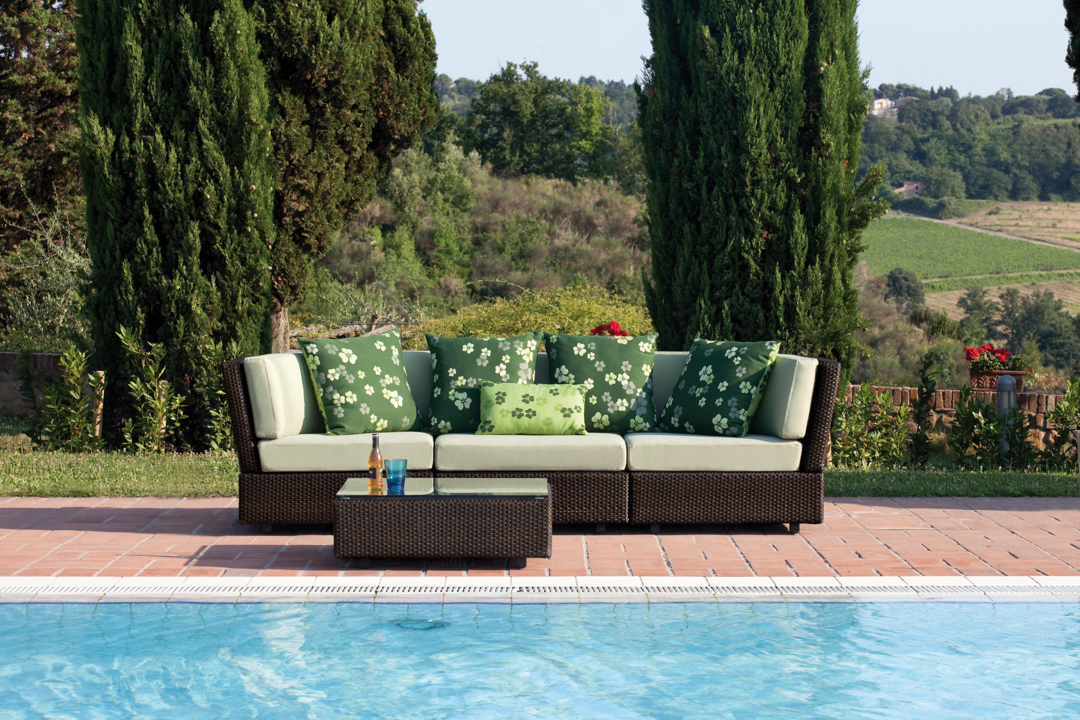 Soft ware tr fle outdoor kissen f r den au eneinsatz 55 x 55 cm 55 x 55 cm gr n by emu - Outdoor kissen fur loungemobel ...