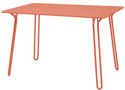 Table Surprising / 120 x 78 cm - Fermob capucine en métal