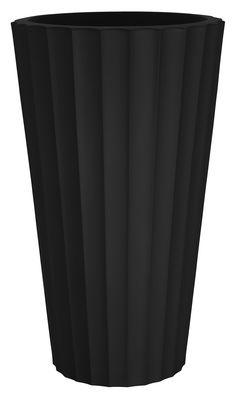 Foto Vaso per fiori Eufronio di Serralunga - Nero - Materiale plastico