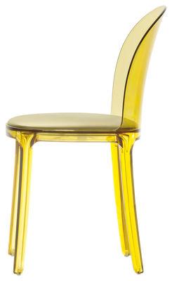 Murano Vanity Chair Chair - Polycarbonate & fabric seat Yellow ...