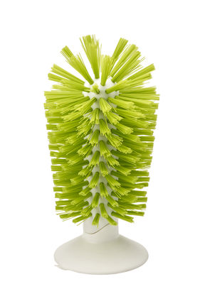 Cuisine - Vaisselle et nettoyage - Brosse à verre Brush-up / Base ventouse - Joseph Joseph - Vert - ABS, Nylon