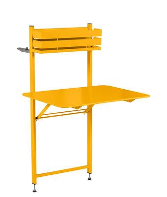 Table pliante balcon bistro rabattable 77 x 64 cm miel - Table de balcon rabattable ...