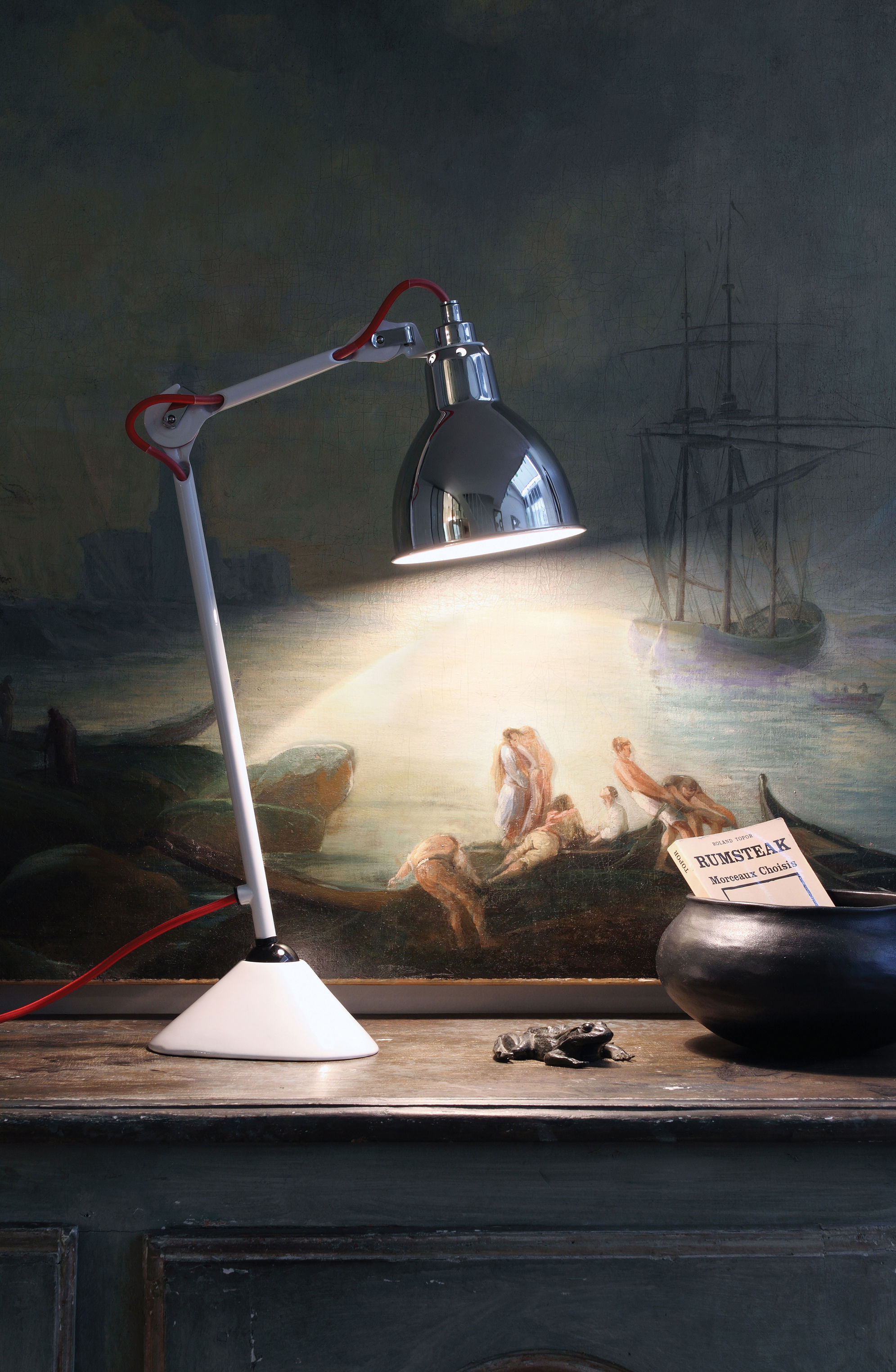 Lampe de table n 205 lampe gras noir satin mat dcw for Solidworks design table zoom