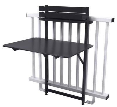 table pliante balcon bistro rabattable 77 x 64 cm carbone fermob. Black Bedroom Furniture Sets. Home Design Ideas