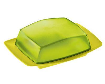 Beurrier Rio Koziol vert moutarde en matière plastique