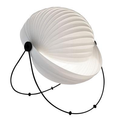 Luminaire - Lampes de table - Lampe de table Eclipse Large / Ø 48 cm - Modulable - Objekto - Ø 48 cm / Blanc - Acier, Polyéthylène, Polypropylène