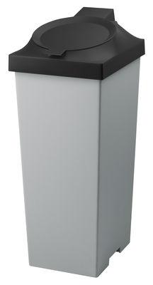 Poubelle Top / Pour tri sélectif - 20 Litres - Authentics gris foncé en matière plastique