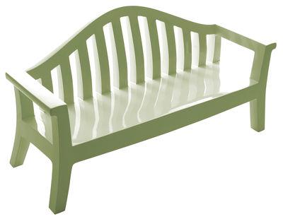 Foto Panca con schienale Giulietta di Serralunga - Verde salvia - Materiale plastico