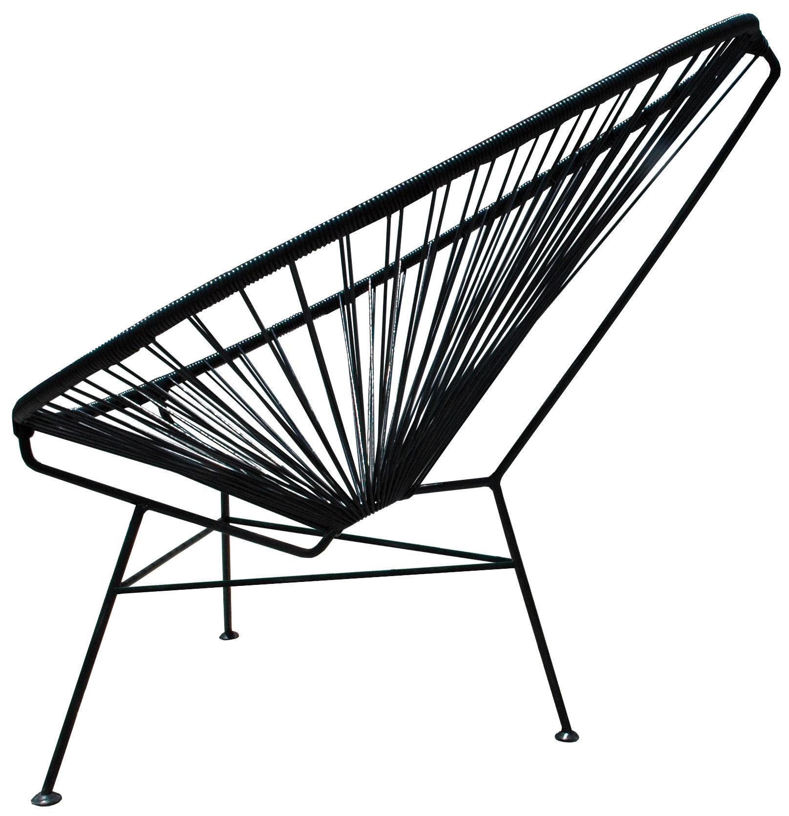 fauteuil enfant mini acapulco noir ok design pour sentou. Black Bedroom Furniture Sets. Home Design Ideas