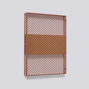 Pannello Pinorama S / H 50 cm - Organizer a parete - Hay - Rosso,Sughero - Metallo
