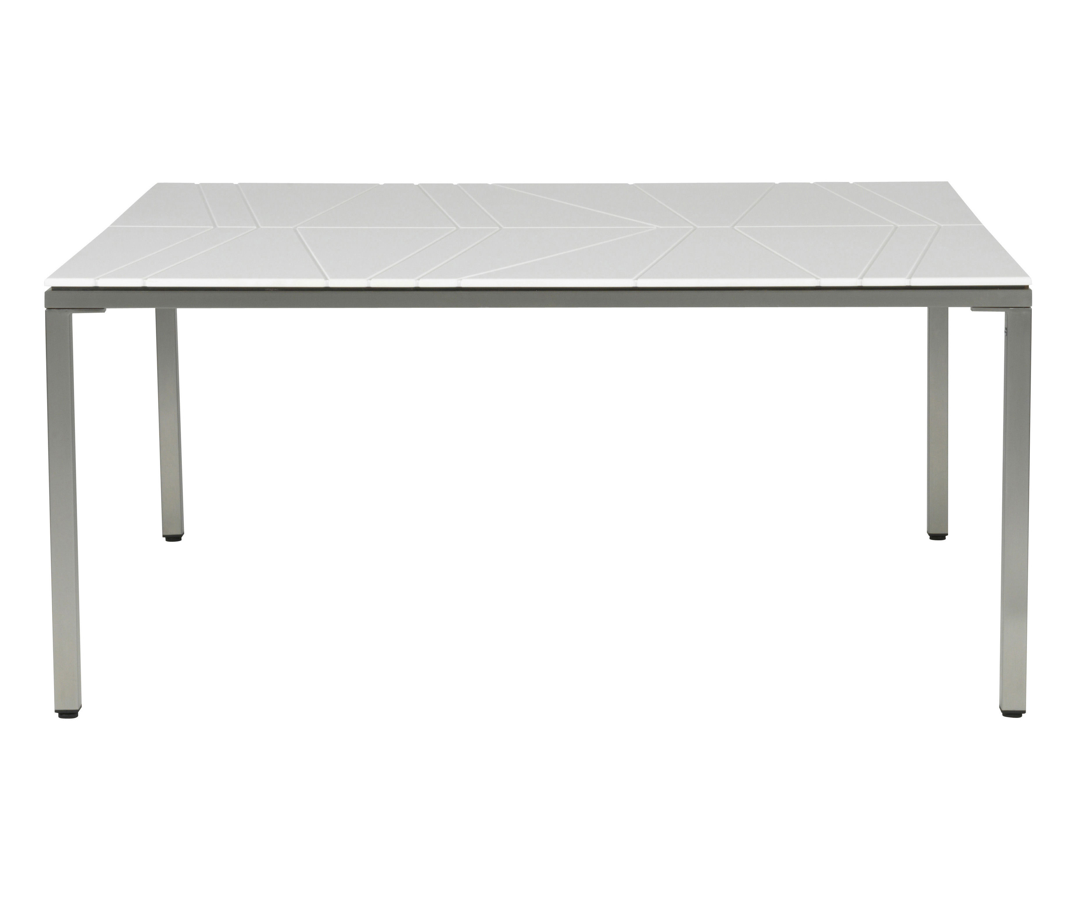 Bandoline table 140 x 140 cm white by viteo for Table 140x140