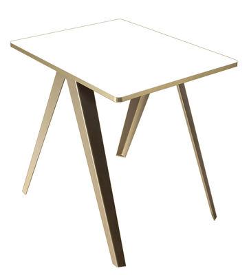 Sanba Tisch / 60 x 75 cm - Serax - Weiß,Gold
